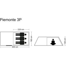 CAMPZ Piemonte 3P Zelt beige/grau
